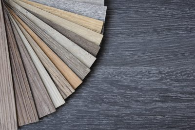 Laminate Wood Concept - Samples of laminate and vinyl